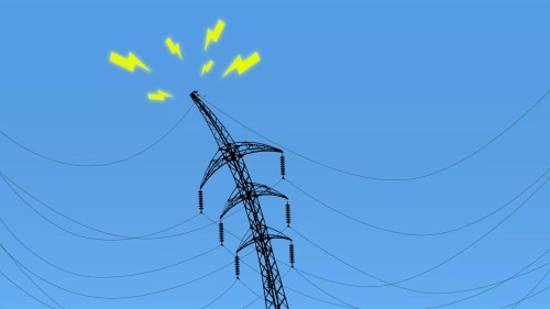 small resolution of illustration of a power line struggling under the weight of electrical wires