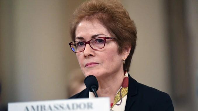 Former U.S. ambassador Marie Yovanovitch