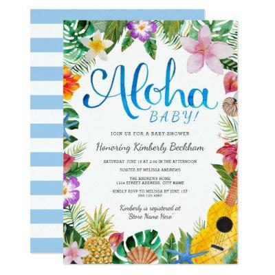 Hawaiian Baby Shower Invitations