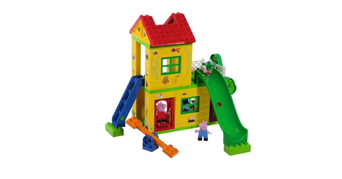 big bloxx briques de construction peppa pig la maison de jeu a commander en ligne baby walz