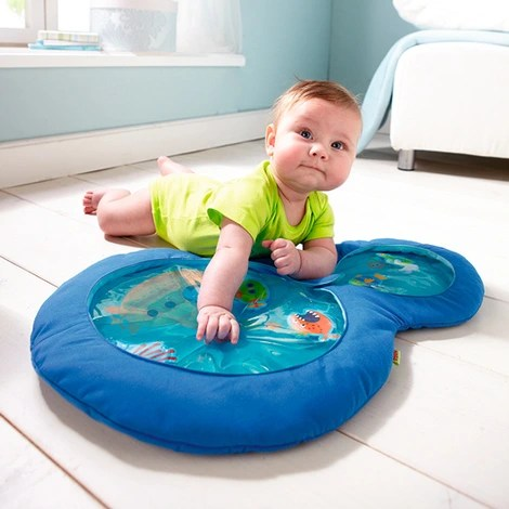 le tapis d eveil a eau bleu