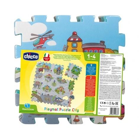 le tapis de jeu puzzle ville 6 pieces