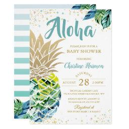 Luau Baby Shower Invitations