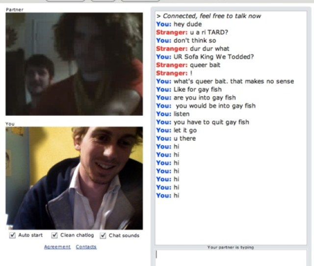Gay Fish 24 Hilarious Chatroulette Chats That Will Make You Laugh Out Loud
