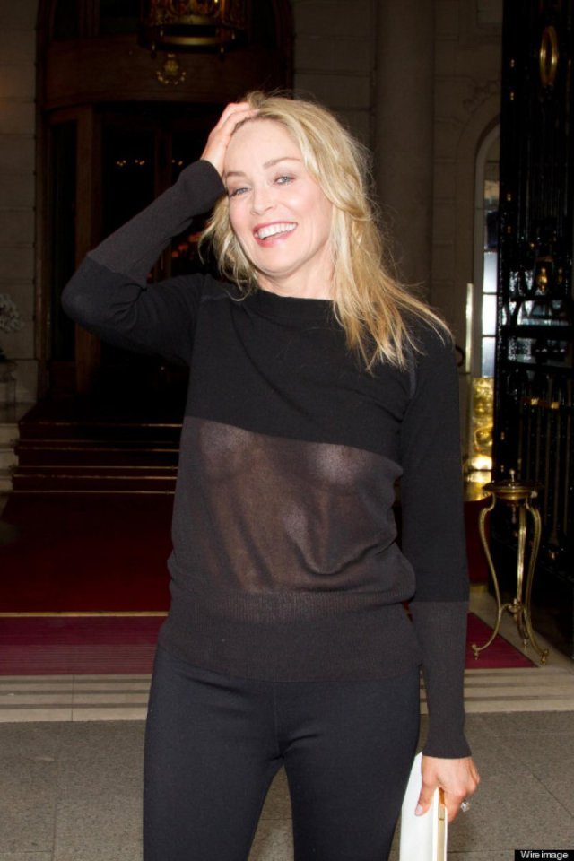 Sharon Stone 12 Celebrities Who Were Spotted Wearing See Through Clothes