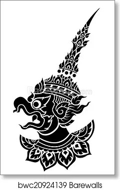 Garuda Vector Art : garuda, vector, Garuda,, King's, Protective, Vector,, Print, Barewalls, Posters, Prints, Bwc20924139