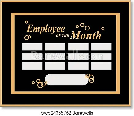 employee of the month art print poster
