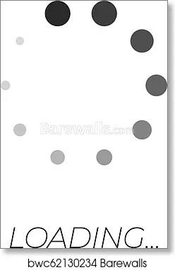 Loading Symbol Text : loading, symbol, Vector, Monochrome, Loading, Symbol,, System, Update,, Process,, Print, Barewalls, Posters, Prints, Bwc62130234