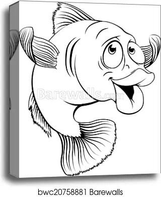 Cartoon Cod Fish : cartoon, Cartoon,, Canvas, Print, Barewalls, Posters, Prints, Bwc20758881