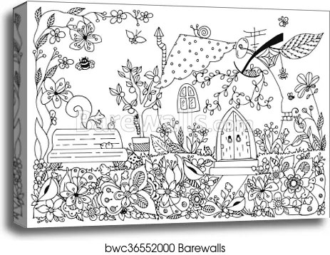 Coloring House With Garden Coloring Pages For Kids