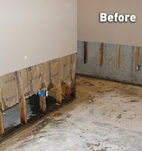 Basement Wall Repair For Wet Drywall In Flooded Basements ...