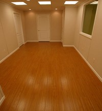 Basement Wood Flooring - MillCreek Faux Wood - Moldproof ...