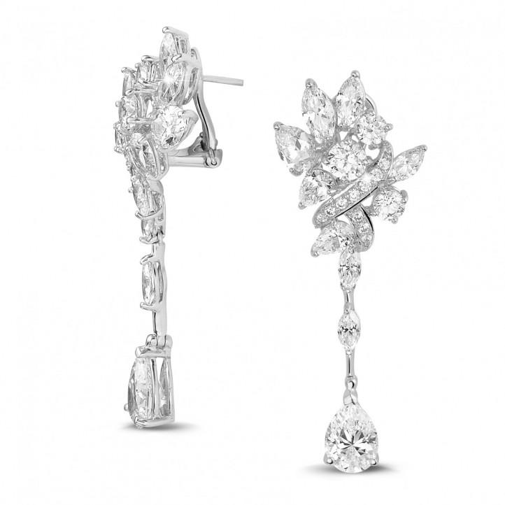 10.50 carats boucles d'oreilles en or blanc avec diamants