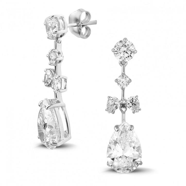 7.00 carats boucles d'oreilles en or blanc avec diamants