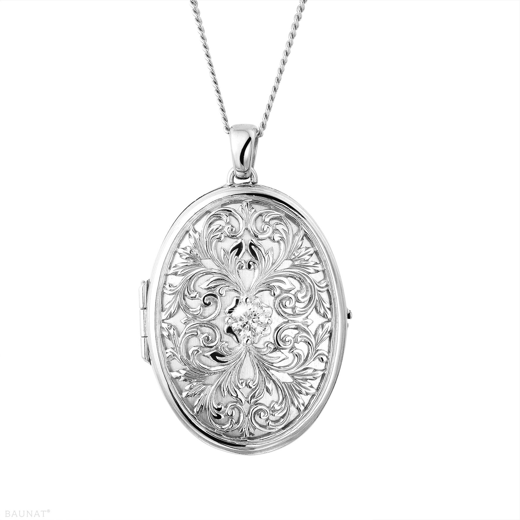 040 Karat Diamant Design Medaillon aus Weigold  BAUNAT