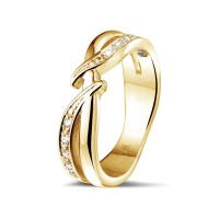 0.11 carat diamond ring in yellow gold - BAUNAT