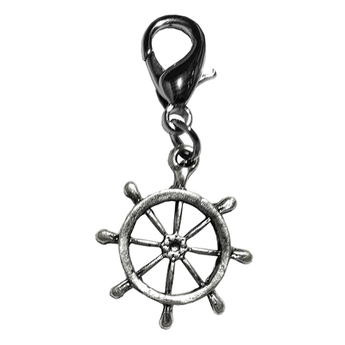 Captain S Wheel Lobster Claw Dog Collar Charm