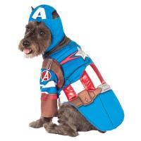 Marvel Deluxe Captain America Dog Costume | BaxterBoo