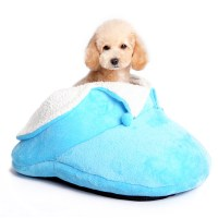 Slipper Dog Bed by Dogo - Blue with Same Day Shipping ...