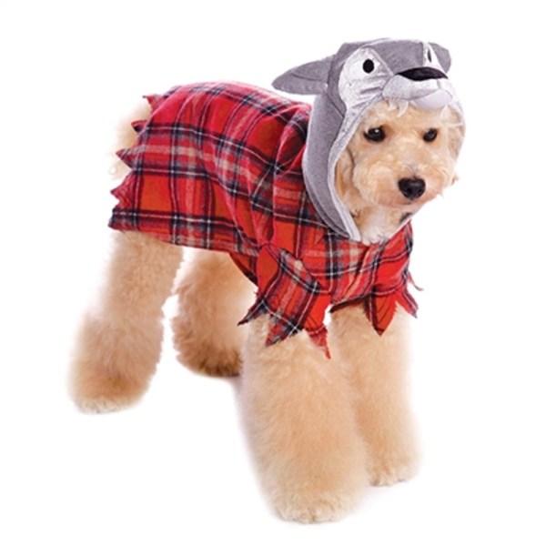 Werewolf Plaid Dog Hoodie Dogo Baxterboo