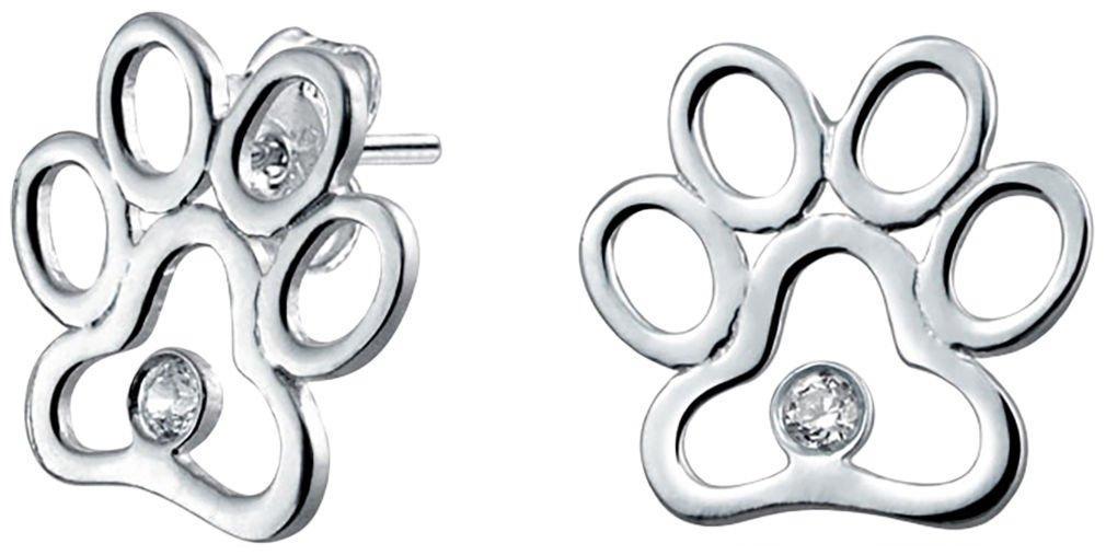 BLING Jewelry Paw Print Stud Earrings
