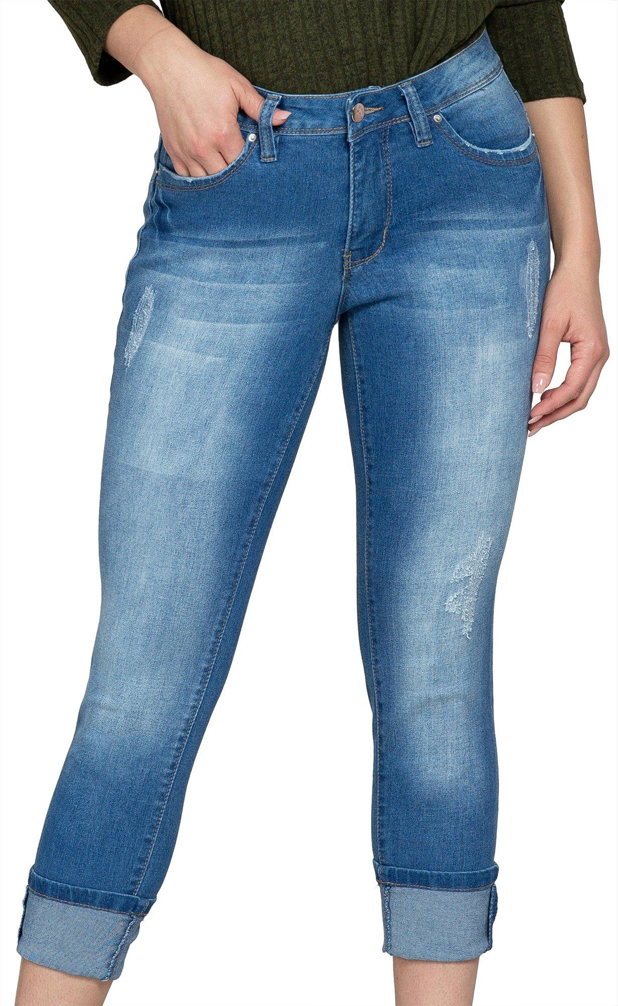 Royalty by YMI Petite Mega Roll Cuff Ankle Jeans | Bealls ...