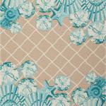 3 6 X 5 6 Tropical Coastal Beach Shell Turquoise Indoor Outdoor Area Rug 4x6