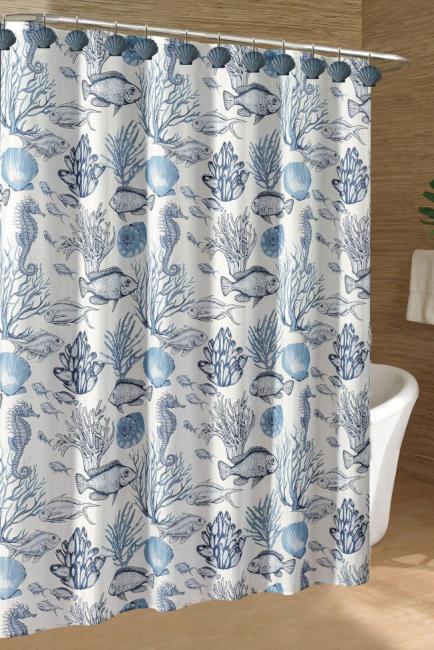 caribbean joe deep sea shower curtain