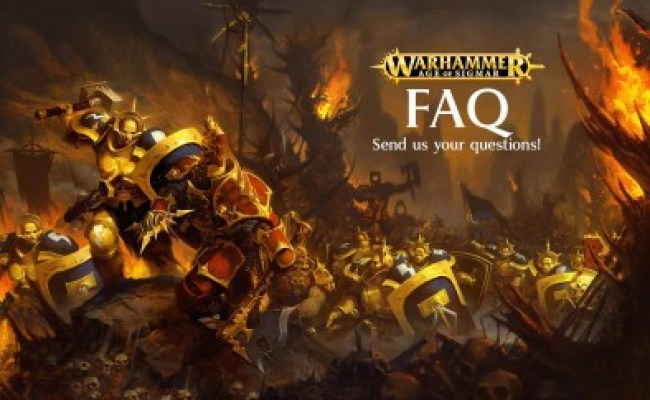 Gw Open Up To The Community For Age Of Sigmar Faq