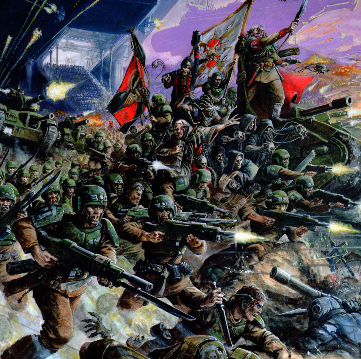 Free Wallpaper Fall Colours 40k Imperial Guard Elysian Army The Fighting 95th