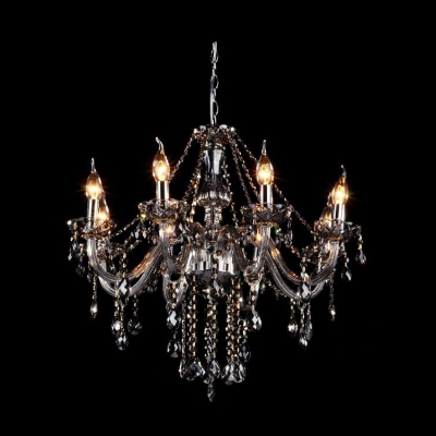 Bright Crystal Chains And Droplets Clear Chandelier Hanging Sphere