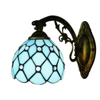 Fashion Style Wall Sconces, Blue Tiffany Lights ...
