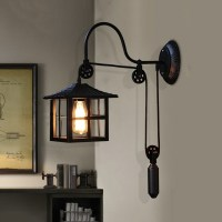 1-Light Gooseneck Adjustable LED Wall Lamp with Cottage ...