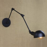 Antique Pewter 1 Light Hallway Swing Arm Task Lighting LED ...
