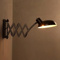 Scissor Arm 1 Light Adjustable LED Wall Sconce In Bronze ...