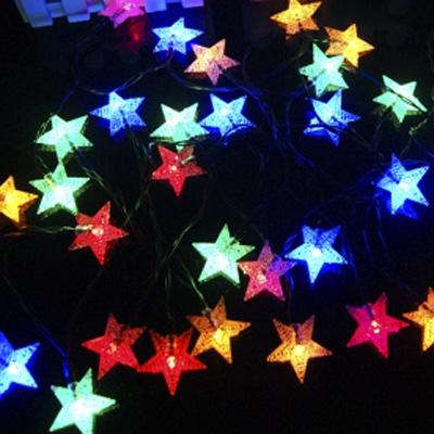 30 Pics Multi Color Shining Star Light Sensor Solar