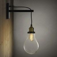 Simple Edison Bulb Style 1 Light Indoor Hallway LED Wall ...