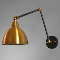 Industrial Dome Wall Sconce Swing Arm in Copper