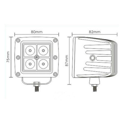 4 Inch LED Work Light 20W Cree LED 30 Degree Spot Beam For