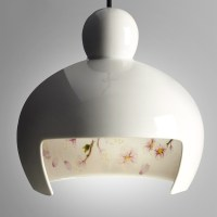 Ceramic Pendant Light Japanese Sakura White ...