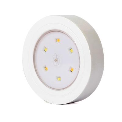 Plastic Stick Anywhere Portable Tap Sensing Mini Night Light in White