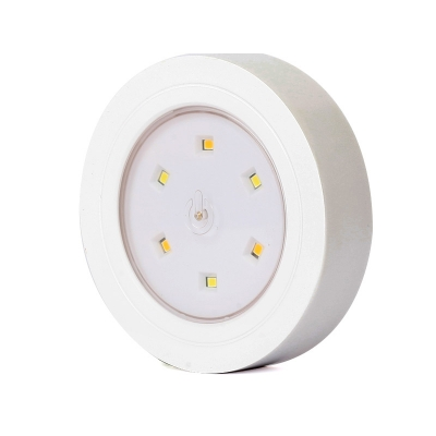 Plastic Stick Anywhere Portable Tap Sensing Mini Night Light in White