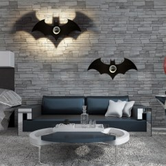 Bat Living Room Simple Indian Ideas Matte Black Ambient Light Shape Wall Sconce For 2 Types Option