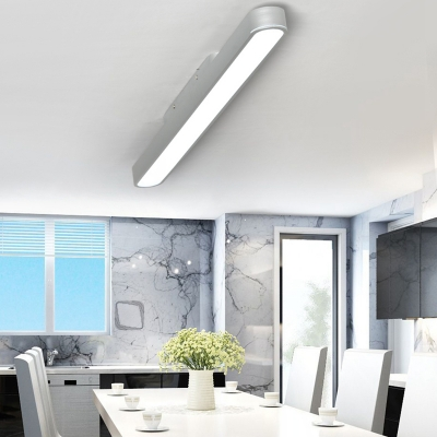 contemporary decorative office commercial lighting multi color round corners and linear frame led linear fixture 8 18w super slim linear flush light