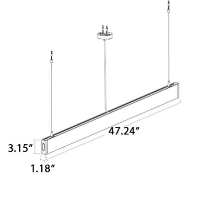 Modern Pendant Lighting Black/White Ultra-thin Led Linear