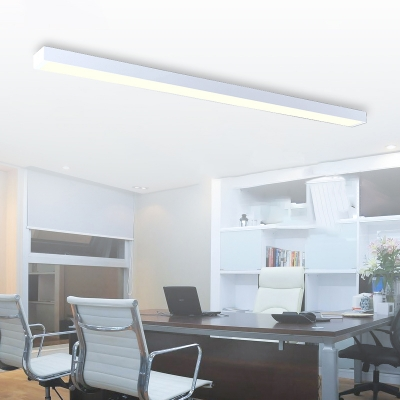 Architectural Linear Fixture In Modern Style White Finish
