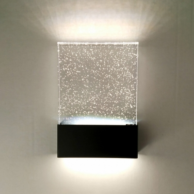 Modern Bubble Glass Led Wall Lighting 670x944 5W Frame Led Sconce Lights With Warm White