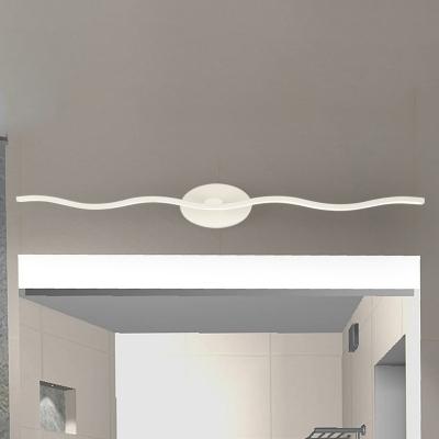 modern bathroom vanity light led slim linear wall light 9 18w 4000k led down lighting wave vanity lighting in white