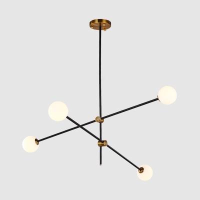 Architectural Lighting Glass Sphere LED Chandelier 2 Light