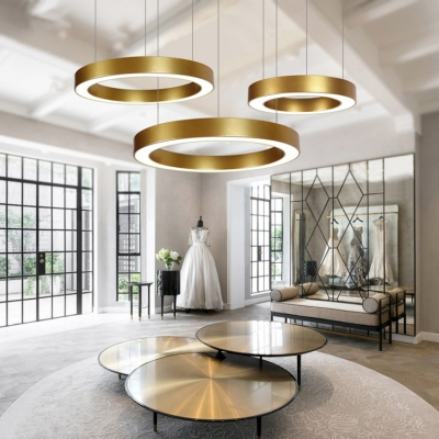 acrylic lampshade hollow hanging light contemporary style gold commercial led lighting 16 23 5 inch wide